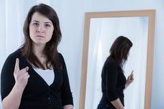 威胁的妇女 免版税图库摄影