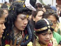 威胁节日gai jatra 图库摄影