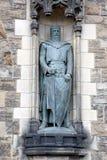 威廉・华莱士雕象爱丁堡城堡的 免版税库存图片