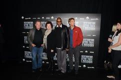威廉・夏特纳和凯特Mulgrew和埃弗里Brooks和斯科特Bak 图库摄影