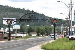 威廉斯入口标志向大峡谷,亚利桑那 免版税库存照片
