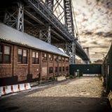 威廉斯堡桥梁在纽约城 图库摄影