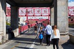 威廉斯堡桥梁曼哈顿 免版税库存照片