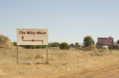 威廉洗涤, Anakie Gemfields,昆士兰,澳大利亚 免版税库存照片