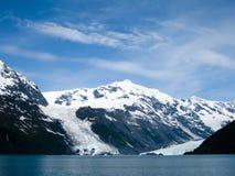 威廉王子湾冰川在阿拉斯加 库存图片