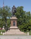 威廉・莎士比亚雕象在塔树丛公园 库存照片