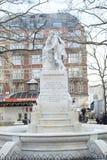 威廉・莎士比亚雕象  免版税图库摄影
