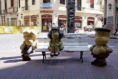 娃娃看天下雕象在圣特尔莫在布宜诺斯艾利斯,阿根廷 免版税库存照片