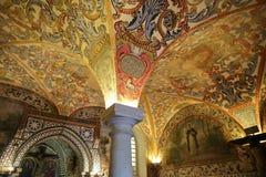 贝娅,葡萄牙- 2016年10月16日:地方博物馆女王利奥诺诺萨Senhora da康塞桑夫人女修道院的章节室 免版税库存图片