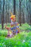 娜拉是泰国的一个古典伙计和地方舞蹈 免版税库存照片