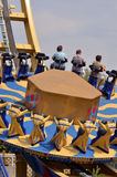 娱乐公园轮子乘驾 库存图片