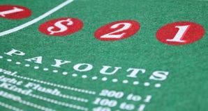 娱乐场五颜六色的比赛表 免版税库存照片