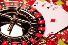 娱乐场概念轮盘赌 库存照片