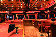 娱乐场肋前缘巡航deliziosa船 库存图片