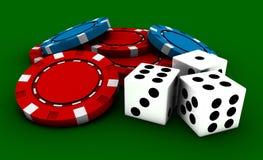 娱乐场赌博 库存例证