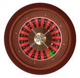 娱乐场轮盘赌。 顶视图。 库存例证