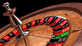 娱乐场轮盘赌的赌轮 免版税库存照片