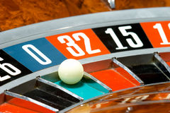 娱乐场轮盘赌 库存图片