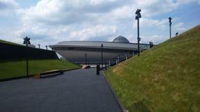 娱乐大厅在卡托维兹,波兰的市中心 图库摄影