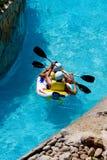 娱乐水色公园用筏子运送 免版税库存照片