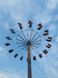娱乐ferris晚上公园向量轮子 免版税库存图片