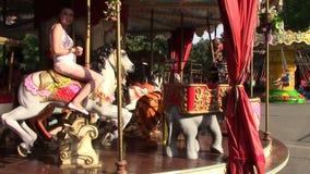娱乐ferris晚上公园向量轮子 股票视频