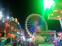 娱乐ferris晚上公园向量轮子 库存照片