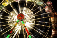 娱乐ferris晚上公园向量轮子 免版税库存照片