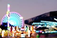 娱乐ferris晚上公园向量轮子 免版税图库摄影