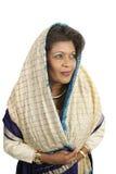 娴静的印第安妇女 免版税库存照片