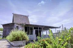 婆罗洲传统房子banjarmasin南加里曼丹 免版税库存图片