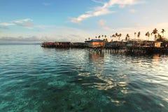 婆罗洲海岛mabul日出 图库摄影