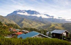 婆罗洲kinabalu视图的马来西亚mt 免版税图库摄影
