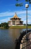 婆罗洲kuching的议会 库存照片