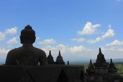 婆罗浮屠上面  免版税库存照片