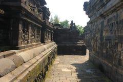 婆罗浮屠墙壁 库存图片