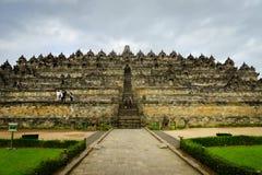 婆罗浮屠寺庙在日惹, Java,印度尼西亚 库存照片
