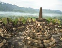 婆罗浮屠寺庙在Jogja,印度尼西亚 免版税库存照片