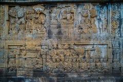 婆罗浮屠寺庙安心,在婆罗浮屠寺庙马格朗中爪哇省印度尼西亚 库存照片