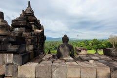 婆罗浮屠寺庙日惹印度尼西亚Java 免版税图库摄影