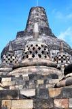 婆罗浮屠寺庙是旅游目的地在亚洲-印度尼西亚 免版税库存照片