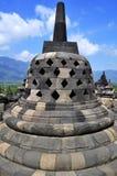 婆罗浮屠寺庙是旅游目的地在亚洲-印度尼西亚 库存照片