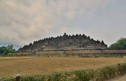 婆罗浮屠寺庙看法  马格朗 中爪哇省 印度尼西亚 免版税库存照片