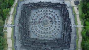 婆罗浮屠寺庙美好的鸟瞰图英尺长度  股票视频