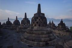 婆罗浮屠寺庙,中爪哇省 库存图片