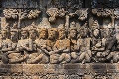 婆罗浮屠寺庙,印度尼西亚 库存图片