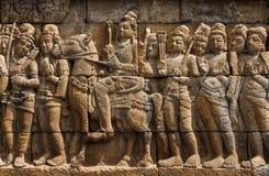 婆罗浮屠寺庙,印度尼西亚 免版税库存图片