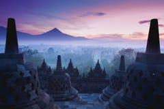 婆罗浮屠寺庙 库存照片