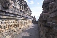 婆罗浮屠遗产在日惹,印度尼西亚 库存图片