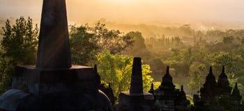 婆罗浮屠,日惹, Java,印度尼西亚 图库摄影